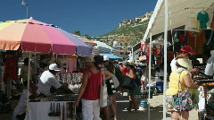 Flea market Cabo P HD 4894 Stock Footage
