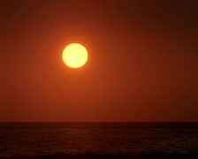Sunset over Ocean PAL Stock Footage