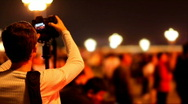 Photojournalist and Crowd of People Stock Footage