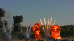 explosions - stock footage