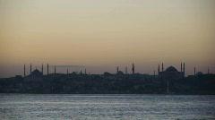 Ihana Hagia Sofia ja Sininen moskeija maisema istanbul Arkistovideo