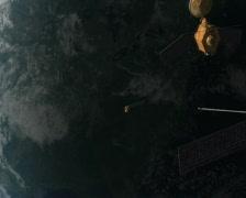 Satellites in Orbit Stock Footage
