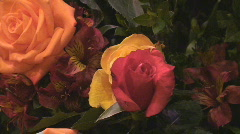 Floral Arrangement at the Altar Stock Footage