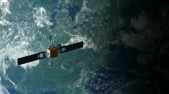 Satellite in Orbit 2 Stock Footage
