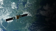 Stock Video Footage of Satellite in Orbit 2
