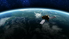Satellite in Orbit - stock footage