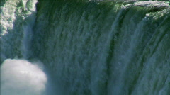 The Falls From above 1 undercranked 60fps Stock Footage
