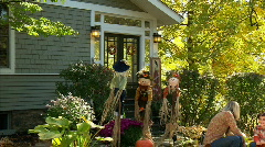 Carving Pumpkins 364 Stock Footage