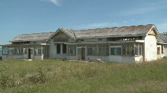old, derelict building - stock footage