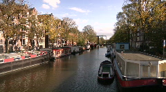 Amsterdam canal brouwersgracht Stock Footage