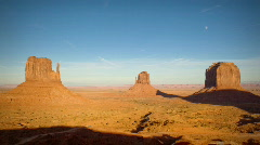(1134) Monument Valley Utah Sunset Moonrise Timelapse Stock Footage