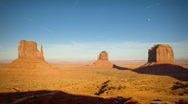 Stock Video Footage of (1134) Monument Valley Utah Sunset Moonrise Timelapse