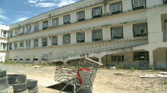 Abandoned and derelict building - stock footage