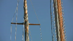 Wooden masts. Stock Footage