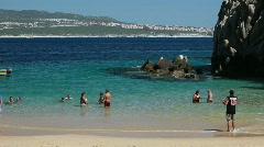 Beach Cabo San Lucus Mexico fun P HD 4955 - stock footage