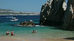 Beach Cabo San Lucus pan P HD 4956 Stock Footage