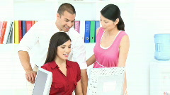 Businesswoman Giving a presentation to her colleagues Stock Footage