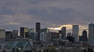 Morning Clouds over Denver Skyline Time Lapse Stock Footage