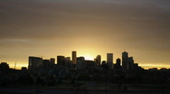 Stock Video Footage of Hazy Denver Sunrise Time Lapse