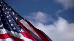 Stock Video Footage of American Flag: Stars and Stripes