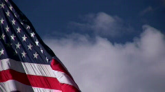 American Flag Getting Wind - stock footage