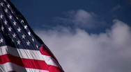 Stock Video Footage of American Flag Getting Wind
