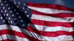 American Flag Close Up Stock Footage