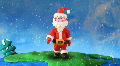 Santa Claus walk around earth-2. Stop motion HD Footage