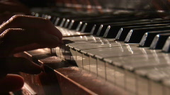 Piano Playing in Window Sunlight - stock footage