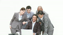 Business associates working together - stock footage