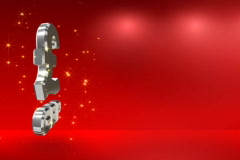 Red background with a pound sterling symbol NTSC Stock Footage