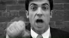 Angry executive! Timelapse. Black & White. Stock Footage