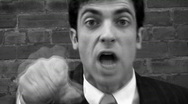 Stock Video Footage of Angry executive! Timelapse. Black & White.