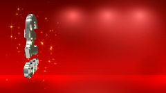 Red background with a pound sterling symbol HD Stock Footage
