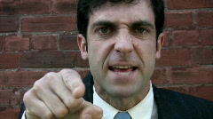 Angry executive! Stock Footage