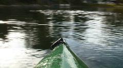 Kayak on Lake POV Stock Footage