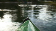 Kayak on Lake POV Stock Footage