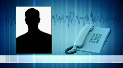 Phone call from a place of events. Stock Footage