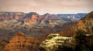(1135) Grand Canyon Arizona Landscape Rain Storm Clouds Timelapse Stock Footage
