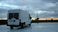 Cargo van Stock Footage