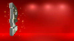 Red background with rouble symbol HD Stock Footage