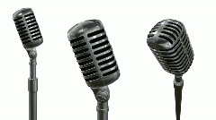 Old microphone rotation. Loop, alpha  Stock Footage