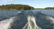 Stock Video Footage of Motorboat wake. Two shots.