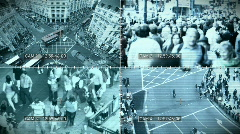CCTV split screen, HD - stock footage