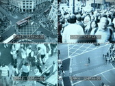 Stock Video Footage of CCTV split screen, NTSC
