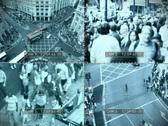 CCTV split screen, PAL Stock Footage