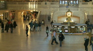 Stock Video Footage of Information Center at Grand Central Station