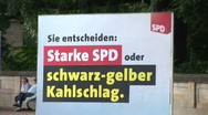 Stock Video Footage of HD1080i German campaigners working on posters
