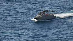 Mexico Navy patrol boat in ocean P HD 5040 Stock Footage