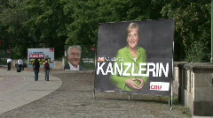 HD1080i German campaigners working on posters - stock footage